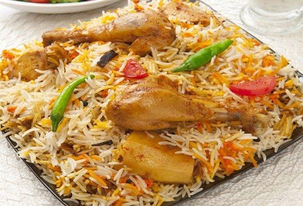 الرز الكابلي المديني بالدجاج